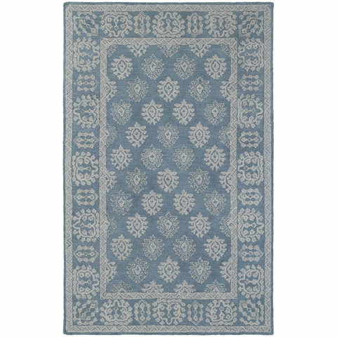 Oriental Weavers Manor Blue Grey Oriental Persian Traditional Rug