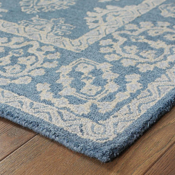 Tufted - Manor Blue Grey Oriental Persian Traditional Rug