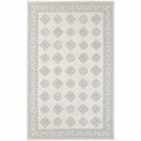 Manor Grey Beige Oriental Persian Traditional Rug - Free Shipping