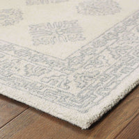 Tufted - Manor Grey Beige Oriental Persian Traditional Rug