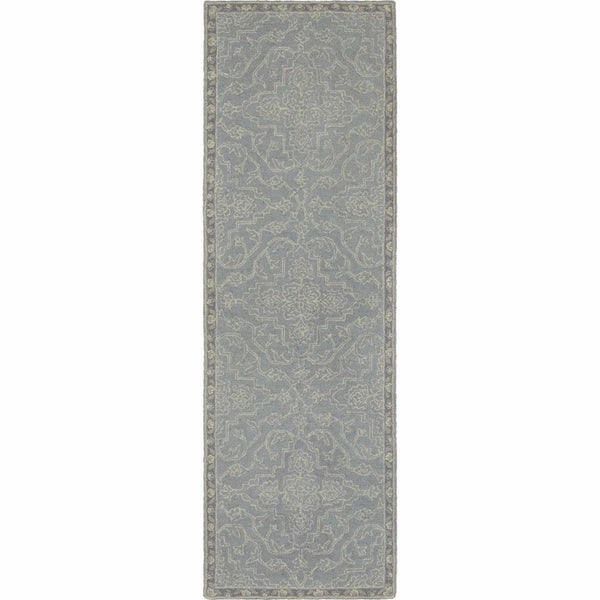 Tufted - Manor Grey Blue Oriental Medallion Traditional Rug