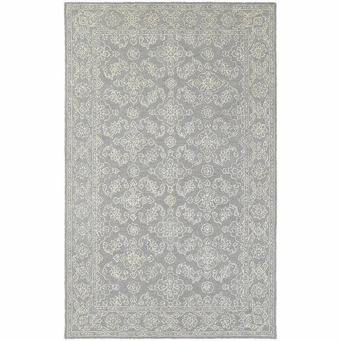 Oriental Weavers Manor Grey Stone Oriental Persian Traditional Rug