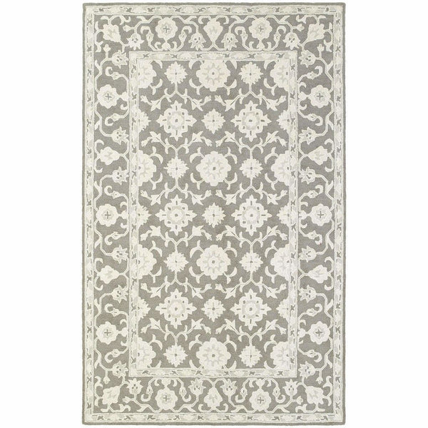 Manor Grey Stone Oriental Persian Traditional Rug - Free Shipping