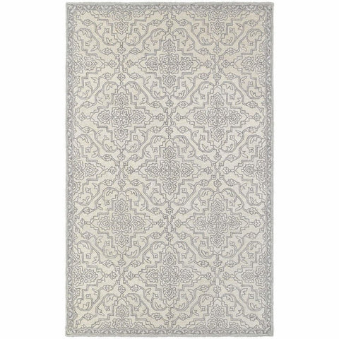 Oriental Weavers Manor Stone Grey Oriental Medallion Traditional Rug