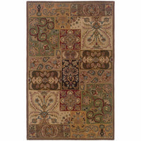 Windsor Beige Brown Oriental Persian Traditional Rug - Free Shipping