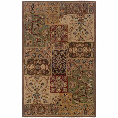 Windsor Beige Brown Oriental Persian Traditional Rug