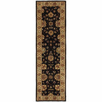Windsor Black Ivory Oriental Persian Traditional Rug - Free Shipping