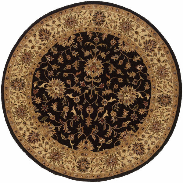 Tufted - Windsor Black Ivory Oriental Persian Traditional Rug