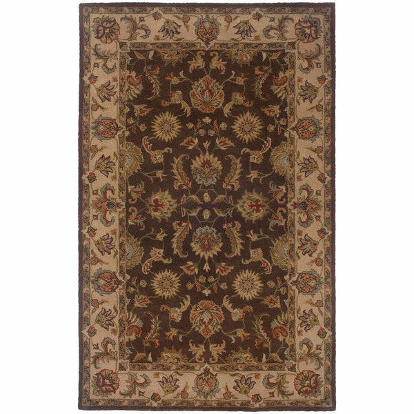 Windsor Brown Beige Oriental Persian Traditional Rug - Free Shipping