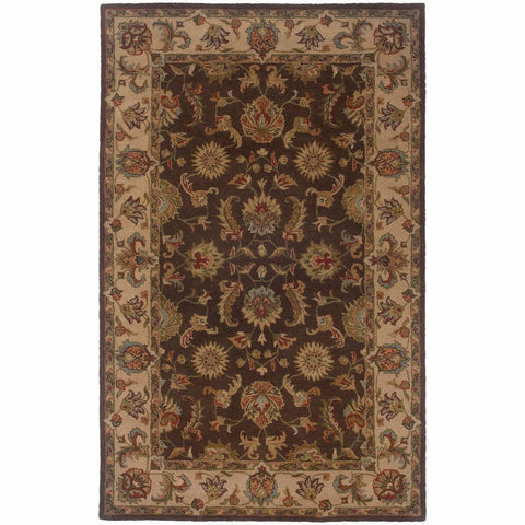 Windsor Brown Beige Oriental Persian Traditional Rug