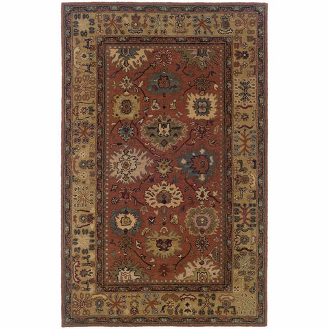 Oriental Weavers Windsor Pink Beige Oriental Persian Traditional Rug