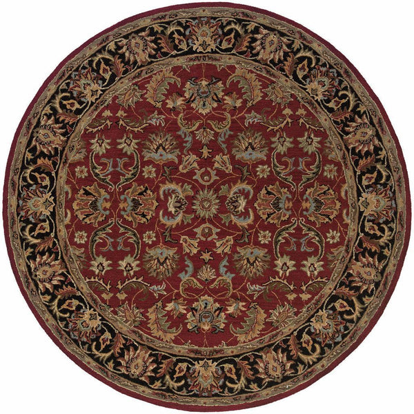 Tufted - Windsor Red Black Oriental Persian Traditional Rug