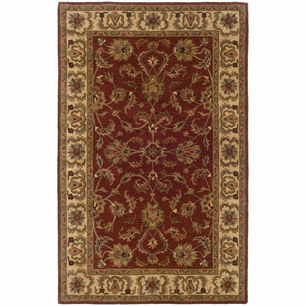 Windsor Red Ivory Oriental Persian Traditional Rug - Free Shipping