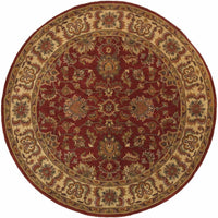 Tufted - Windsor Red Ivory Oriental Persian Traditional Rug