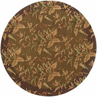 Tufted - Windsor Tan Brown Floral  Transitional Rug