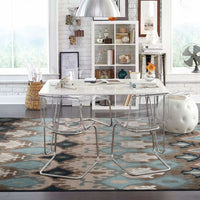 Woven - Adrienne Blue Stone Oriental Tribal Transitional Rug