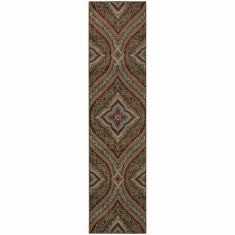 Adrienne Green Plum Oriental Persian Transitional Rug