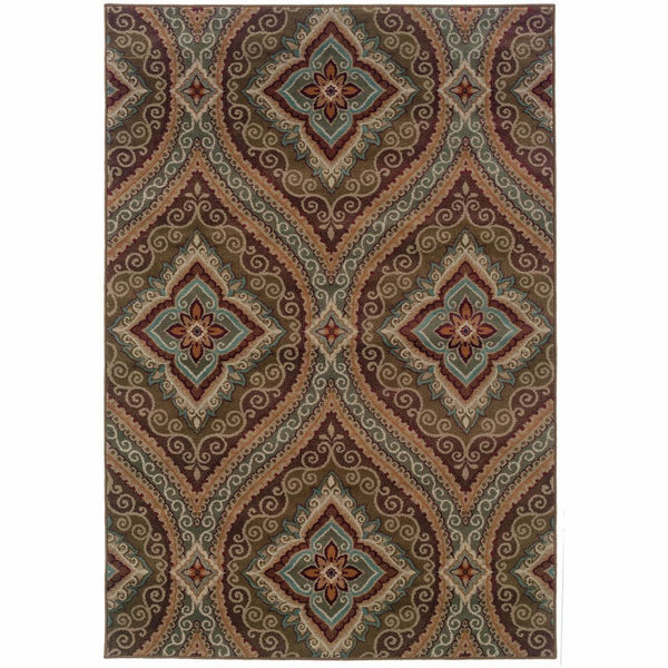 Woven - Adrienne Green Plum Oriental Persian Transitional Rug