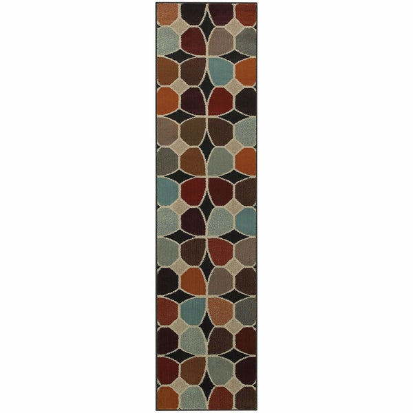 Adrienne Grey Multi Geometric  Transitional Rug - Free Shipping