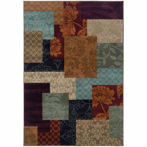 Oriental Weavers Adrienne Multi  Geometric Chevron Transitional Rug