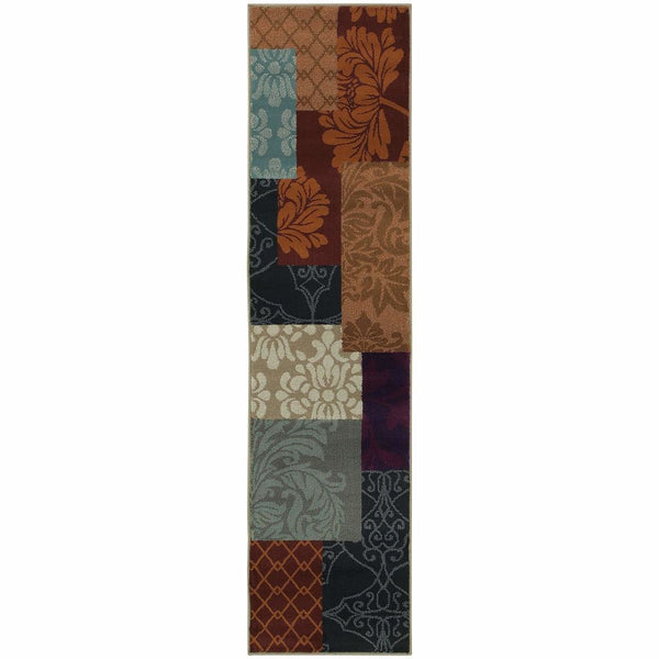 Adrienne Multi  Geometric Chevron Transitional Rug - Free Shipping