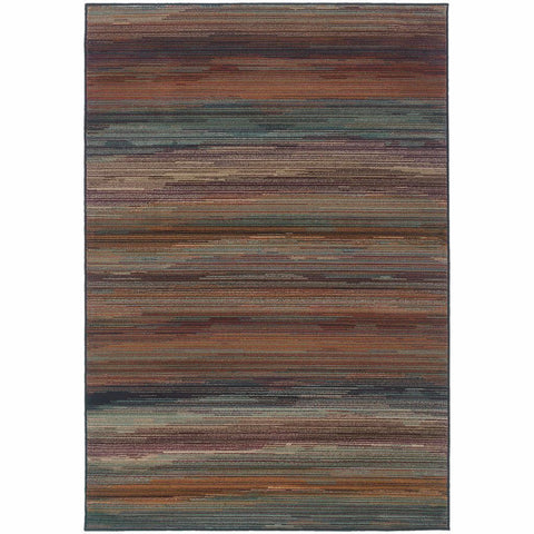 Adrienne Multi  Stripe  Contemporary Rug