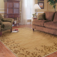 Woven - Allure Beige Brown Floral  Transitional Rug