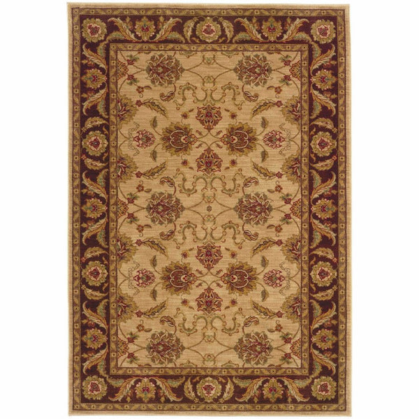 Allure Beige Brown Oriental Persian Traditional Rug - Free Shipping