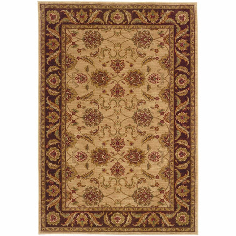 Allure Beige Brown Oriental Persian Traditional Rug