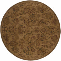 Woven - Allure Beige Green Floral  Transitional Rug