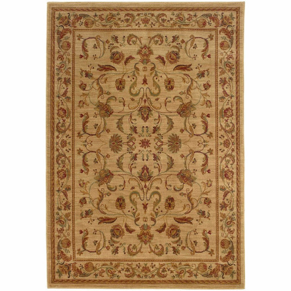 Allure Beige Red Oriental Persian Traditional Rug - Free Shipping