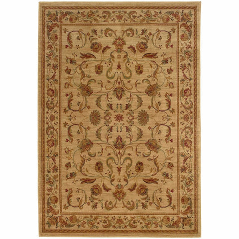 Allure Beige Red Oriental Persian Traditional Rug