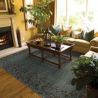 Woven - Allure Blue Brown Floral  Transitional Rug