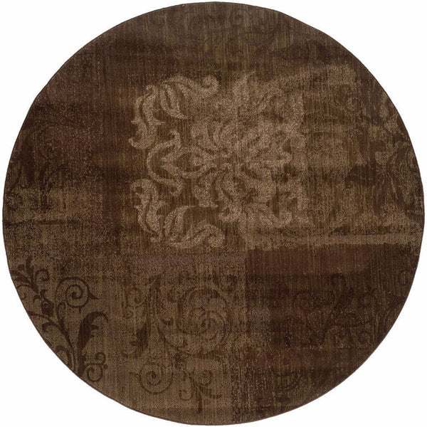 Woven - Allure Brown Beige Floral  Transitional Rug