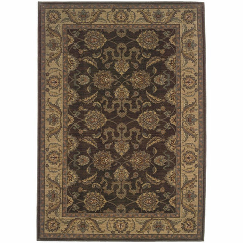 Allure Brown Beige Oriental Persian Traditional Rug