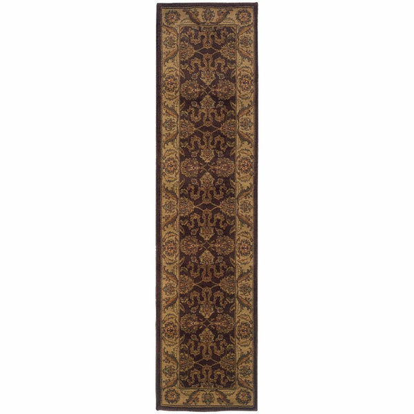 Allure Brown Beige Oriental Persian Traditional Rug - Free Shipping