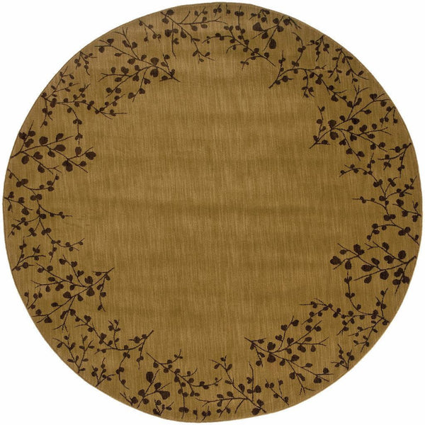 Woven - Allure Gold Brown Floral  Transitional Rug
