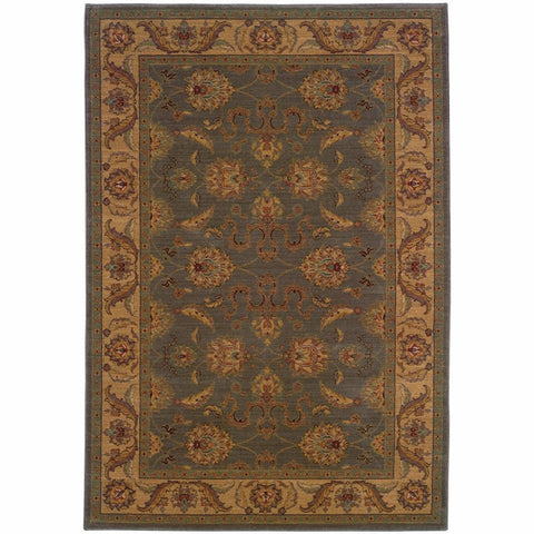 Allure Green Beige Oriental Persian Traditional Rug