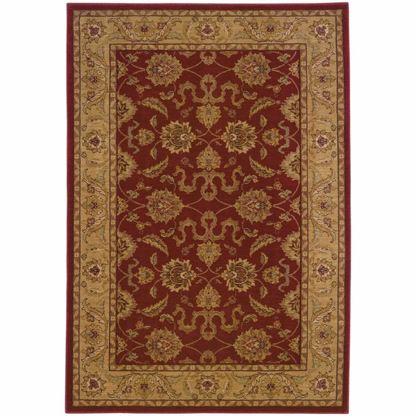 Allure Red Beige Oriental Persian Traditional Rug - Free Shipping