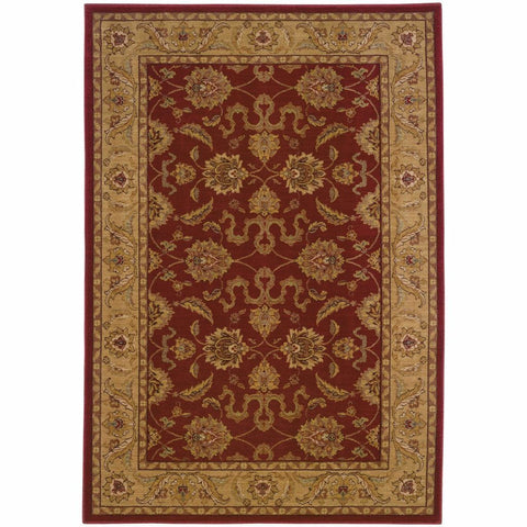 Allure Red Beige Oriental Persian Traditional Rug