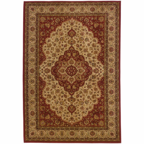 Oriental Weavers Allure Red Gold Oriental Persian Traditional Rug
