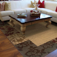 Woven - Amelia Beige Red Border  Transitional Rug