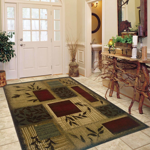 Woven - Amelia Beige Red Floral  Transitional Rug