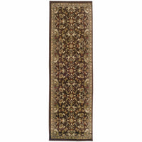 Woven - Amelia Brown Beige Floral  Transitional Rug