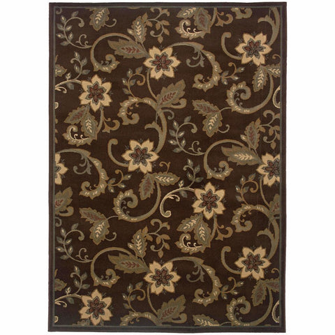 Oriental Weavers Amelia Brown Ivory Border  Transitional Rug