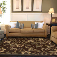 Woven - Amelia Brown Ivory Border  Transitional Rug