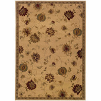 Woven - Amelia Ivory Green Floral  Transitional Rug