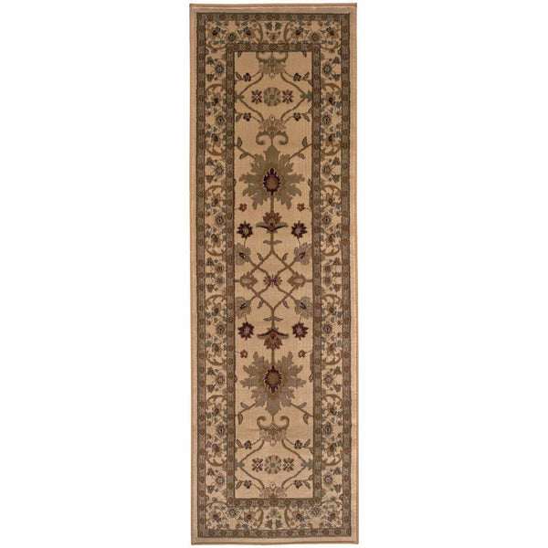 Amelia Ivory Green Oriental Persian Traditional Rug - Free Shipping
