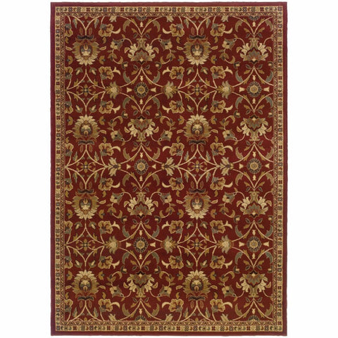 Oriental Weavers Amelia Red Ivory Floral  Transitional Rug