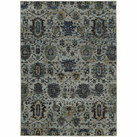 Andorra Blue Navy Oriental Overdyed Traditional Rug